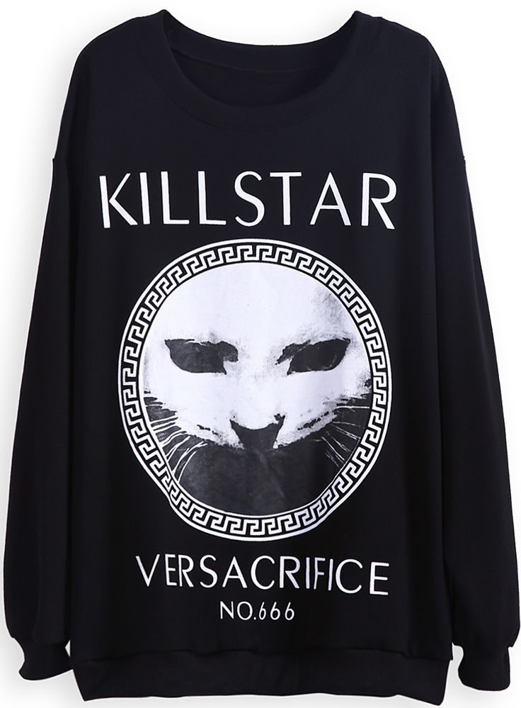 Black KILLSTAR print sweatshirt from SheInside, $24.26