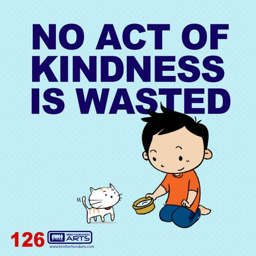 "126: Ahmad Says ""No act of kindness is wasted.""  deenify.com"