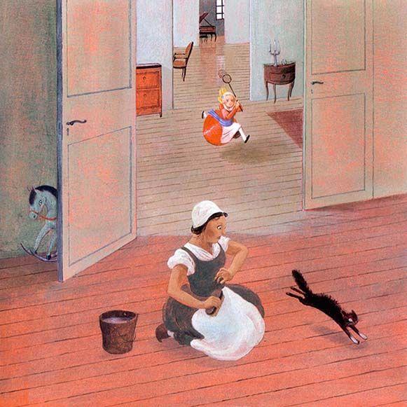 """Claire de Gastold illustration for """"Angèle, l'ange du clavecin""""."""