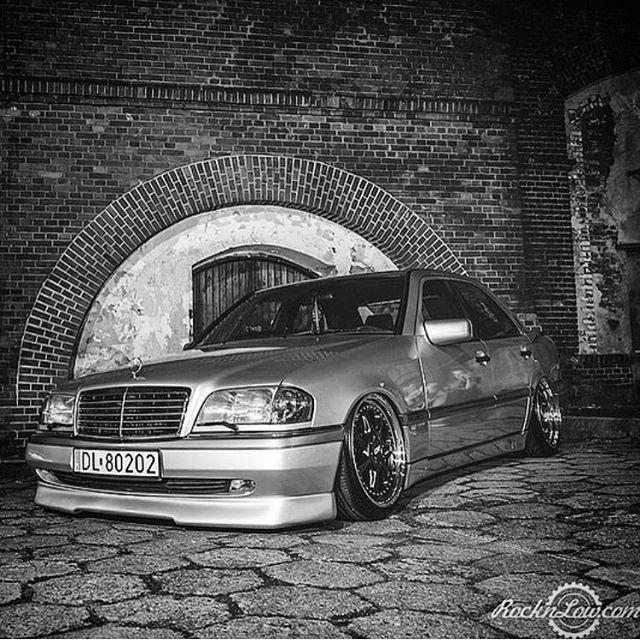 Via: @sebek.lca || #mercedes #benz #w202 #w202gram #wheels #low #lowered #stance #clean #illest #euro #carporn #love #stancenation #cargramm #instacar #carswithoutlimits #blacklist ||