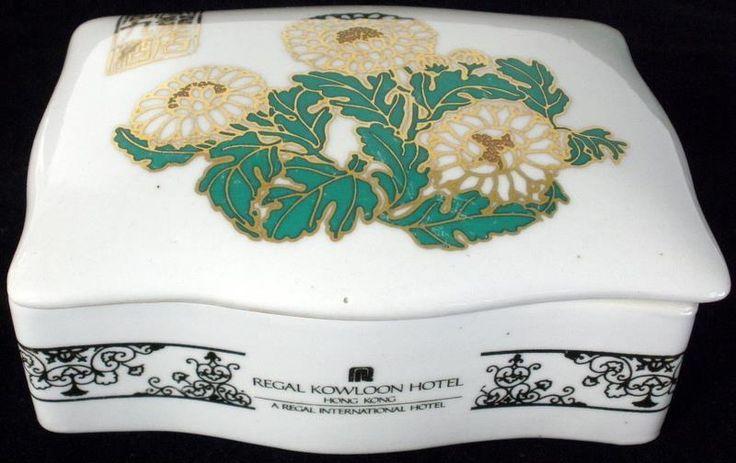 Vintage Regal Kowloon Hotel Hong Kong Porcelain Trinket Box #Unbranded