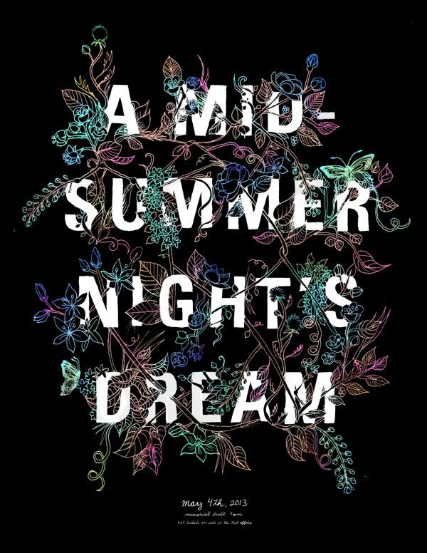 A Midsummer Night's Dream. Shakespeare Posters by Laura Zalewski