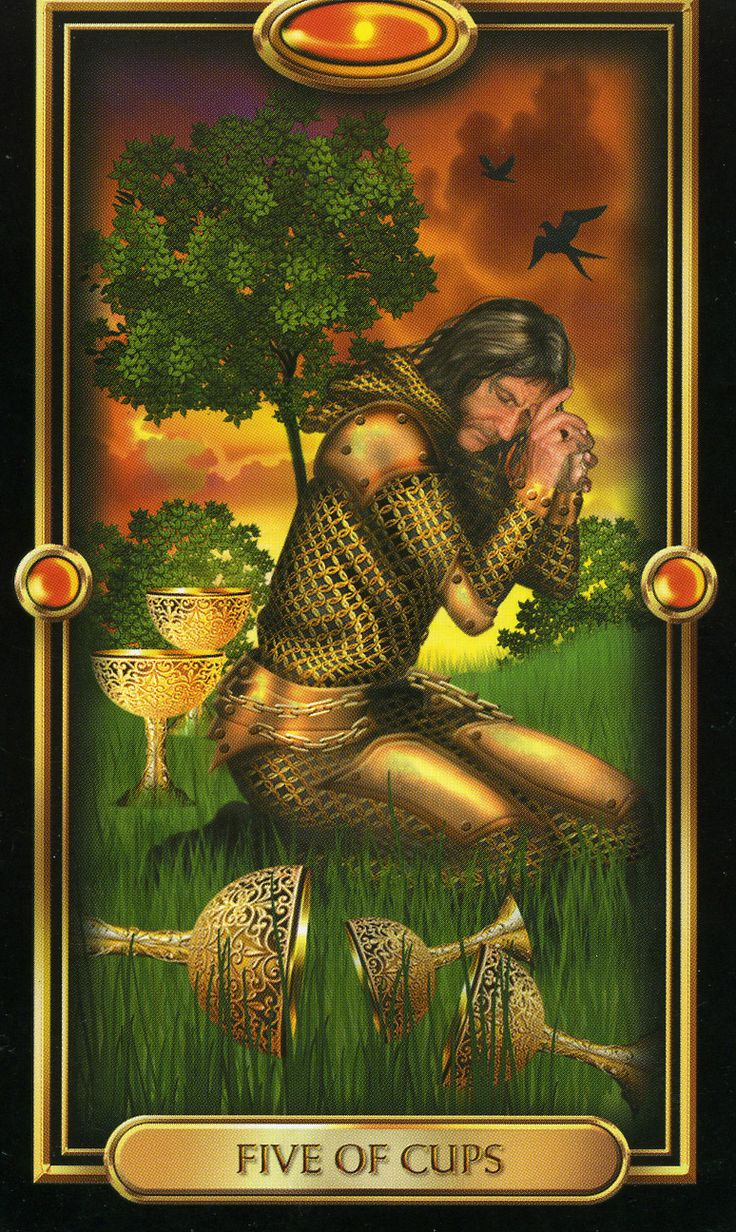 Four of Pentacles Gilded Tarot | of Cups
