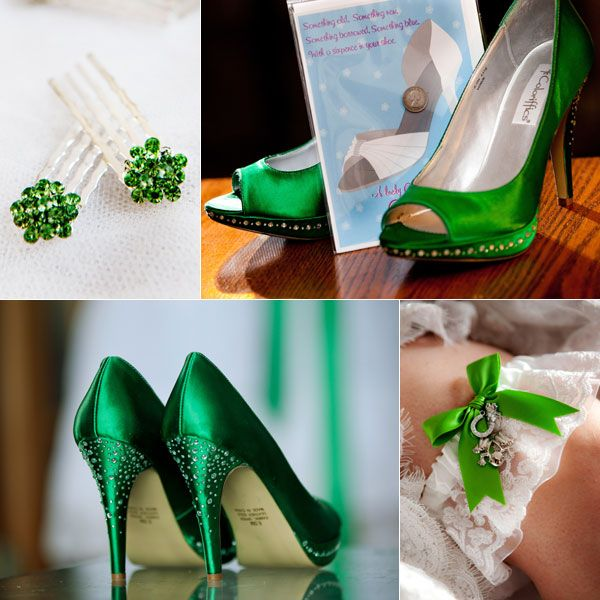Green accessories! The actual green that I want as my color in the wedding!!! These shoes are perfect!