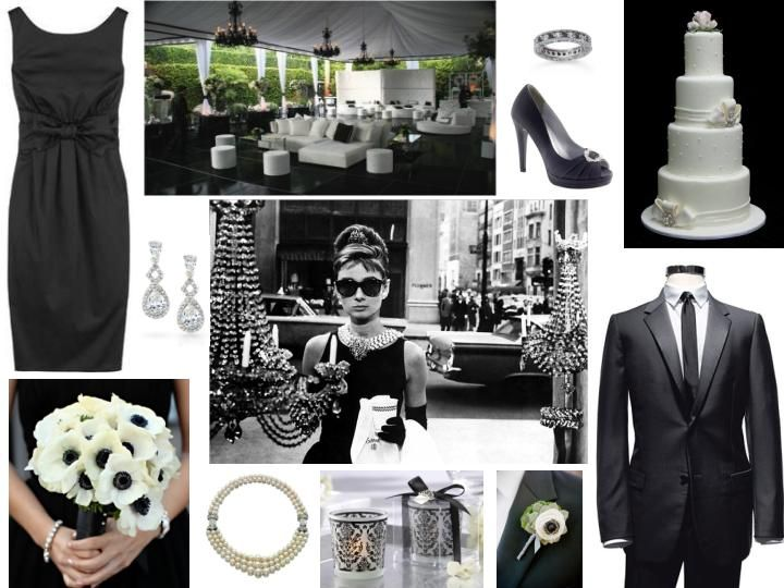 Forever Holly – Inspiration for a chic Breakfast at Tiffany's themed Wedding Monochrome wedding theme