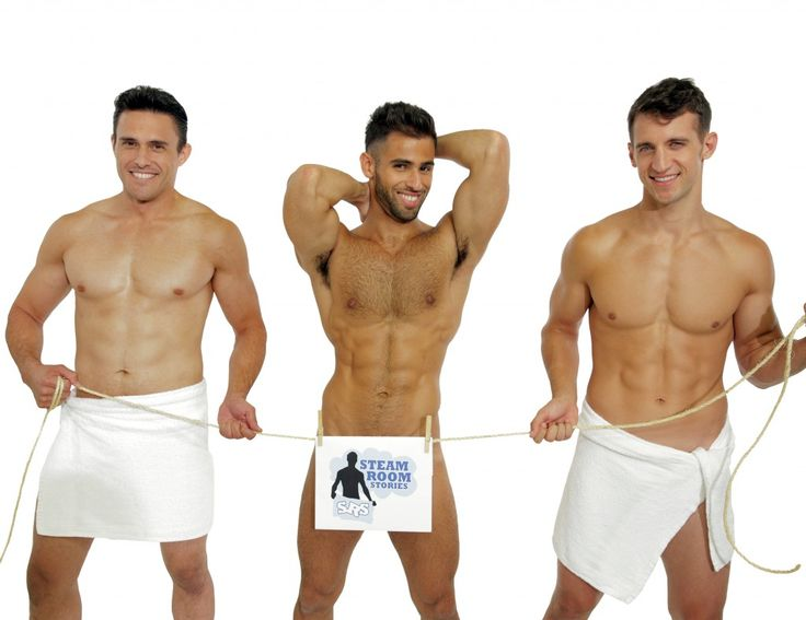 Steam Room Stories studs Moranai Kanekoa, Pablo Hernandez model for the SRS 2015 Calendar