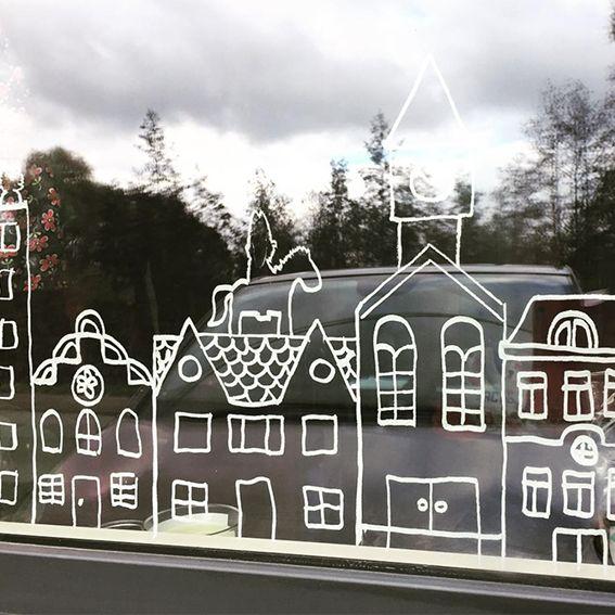 Sint op Amerigo en Piet speciaal ontworpen om te combineren met de huizen raamtekening ontwerpen.