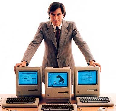 Young Steve and the Macintosh. Greatest innovator of our time.