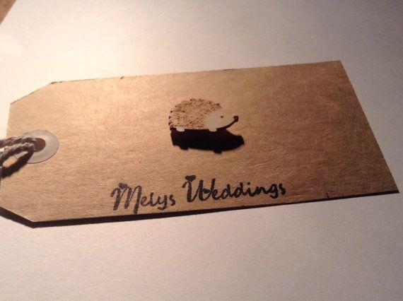 Hedgehog pin back badge brooch accessory Wooden by Melysweddings, £1.95