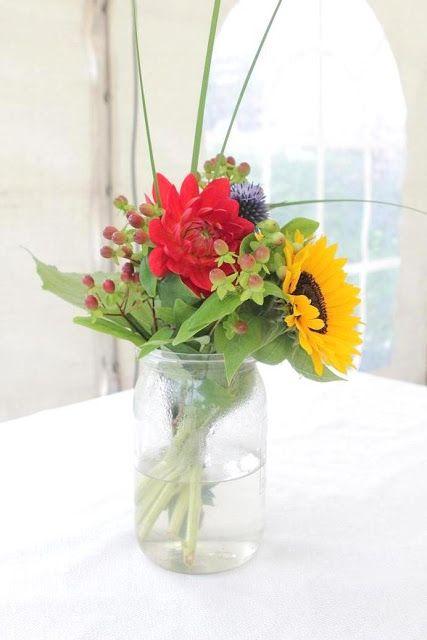 Enkel blomsterbukett