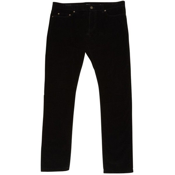 Pre-owned Saint Laurent Trousers ($296) ❤ liked on Polyvore featuring men's fashion, men's clothing, men's pants, men's casual pants, black, men clothing trousers, men's 5 pocket corduroy pants, men's 5 pocket pants, mens corduroy pants and mens high waisted pants