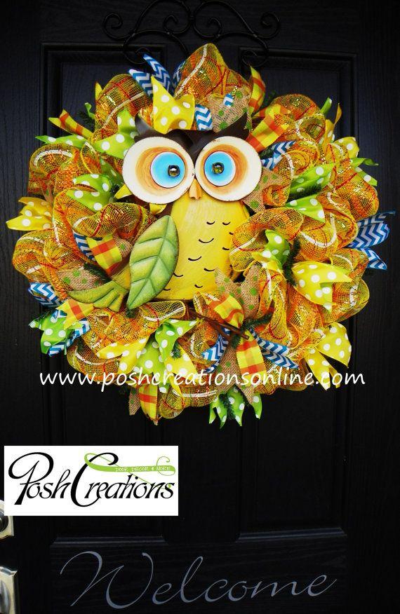 Summer Mesh Wreath Mesh Wreath Spring Wreath  by poshcreationsKY, $75.00
