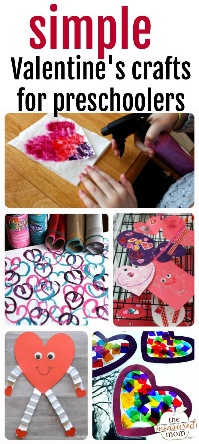 Easy Valentine crafts for preschoolers! A roundup of fun heart themed crafts for preschoolers to do this February! #heartactivities #preschoolers