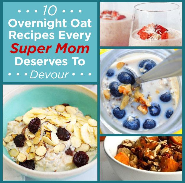 I haven't tried any of these but may give them a try sometime! thanks Brandon! 10 Overnight Oat Recipes Every Super Mom Deserves To Devour