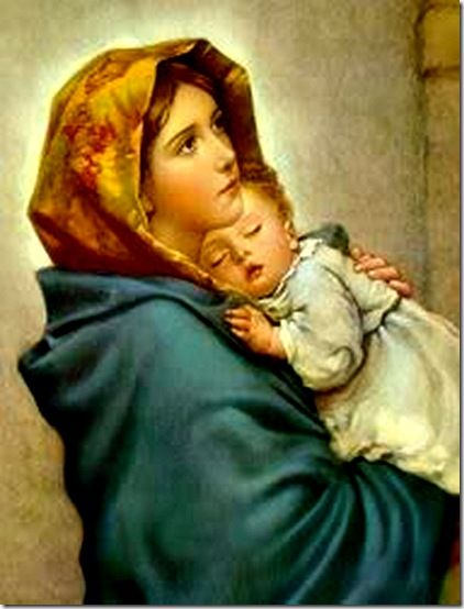 "Famous ""Madonna of the Streets"" painting, called the Madonnina in Italian. The original has been lost! Painted by Italian artist Robert Ferruzzi."