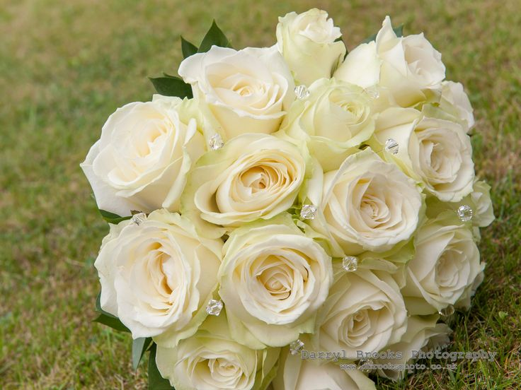 Bridal Bouquet   Avalanche roses and Swarovski crystals