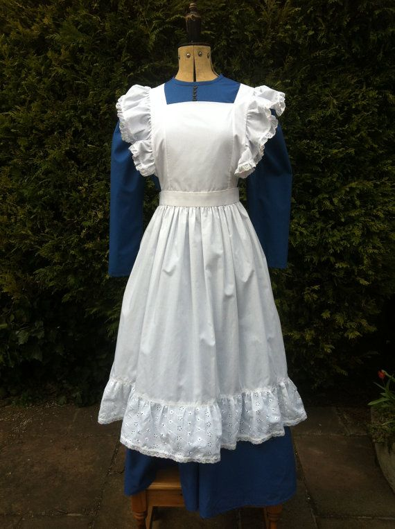 Victorian Styled Dress And Apron Ideal For Stage And