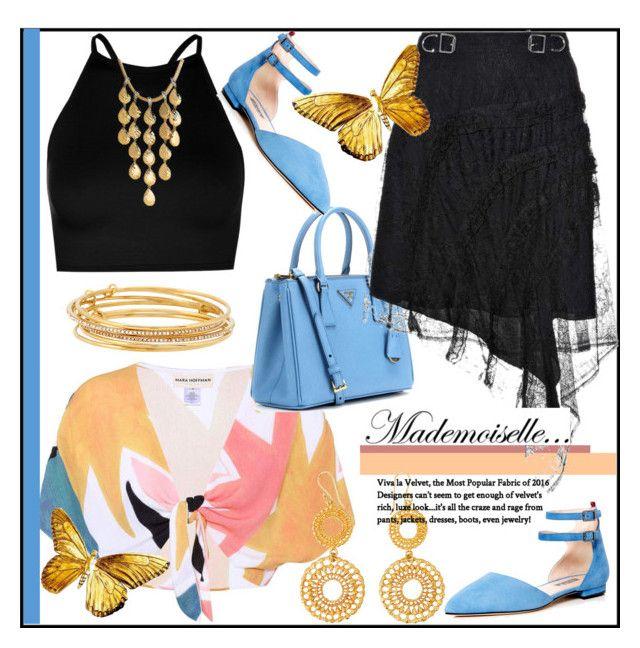 """Mademoiselle..."" by helenaymangual ❤ liked on Polyvore featuring Mara Hoffman, Boohoo, Prada, Carven, SJP, Kate Spade and John Hardy"