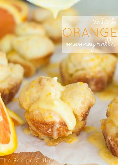 Mini Orange Monkey Rolls Recipe ~ oh so gooey and delicious!  These are very easy to prepare. Perfect for a summer brunch!