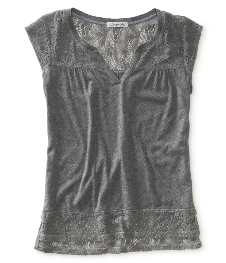 Lace Muscle Tee from Aéropostale