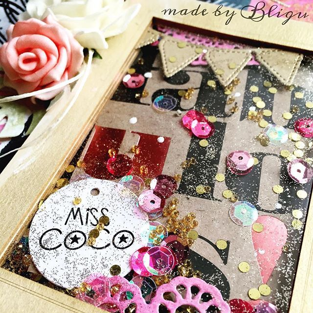""".:it's gonna be a fabulous year!  Notebook cover with giant #shakerbox :) #Bligu #scrapbooking #handmade"" Photo taken by @agataaraszkiewiczbligu on Instagram, pinned via the InstaPin iOS App! http://www.instapinapp.com (12/20/2015)"