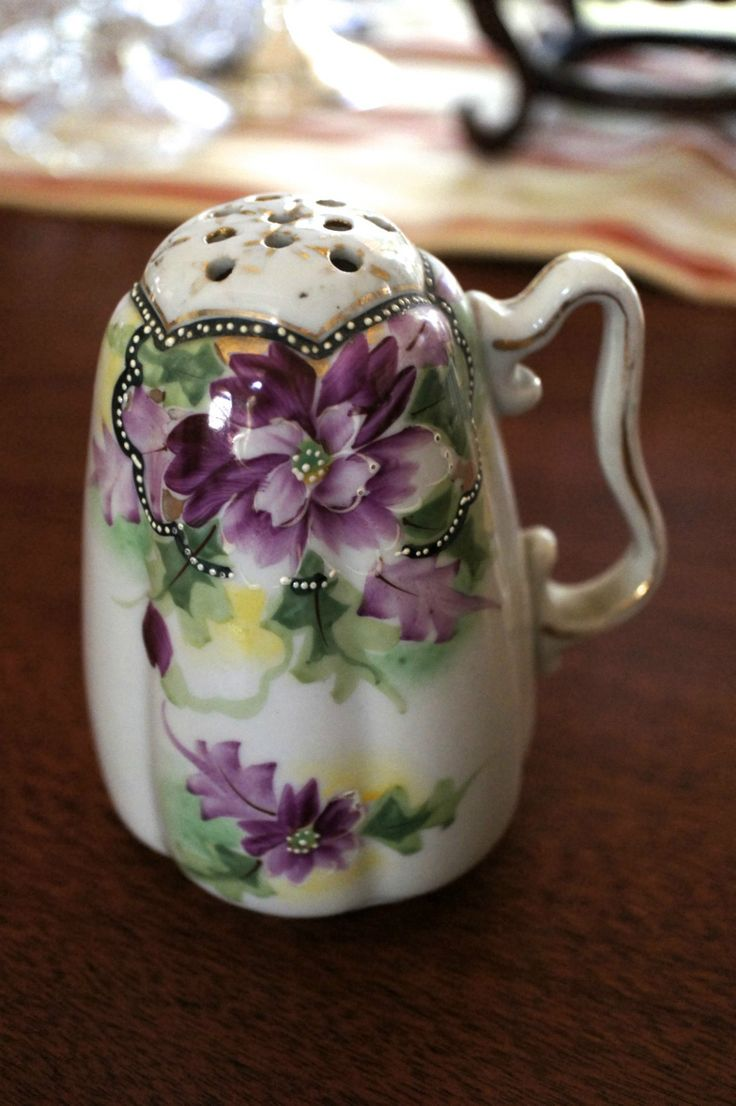 Antique Victorian Sugar Shaker Porcelain Hand Decorated Handle Circa 1900 | eBay