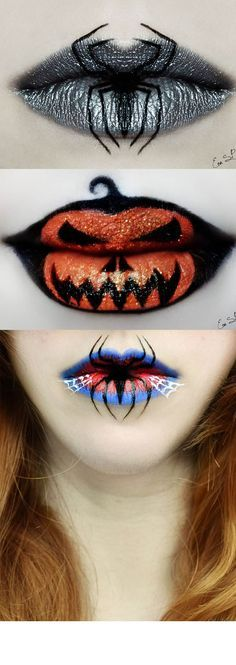 Eva Senín Pernas, the Spanish makeup artist and photographer has created some jaw-dropping designs using makeup on lips, and they're super-spooky Halloween-themed. Check out some of her incredible creations, from the Batman logo to a witch's cat, evil pumpkins, ghost and ghouls. They're beautifully bewitching...