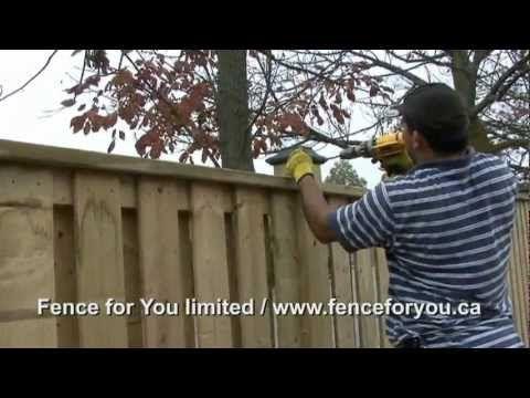 ▶ Wood Fence Installation - YouTube