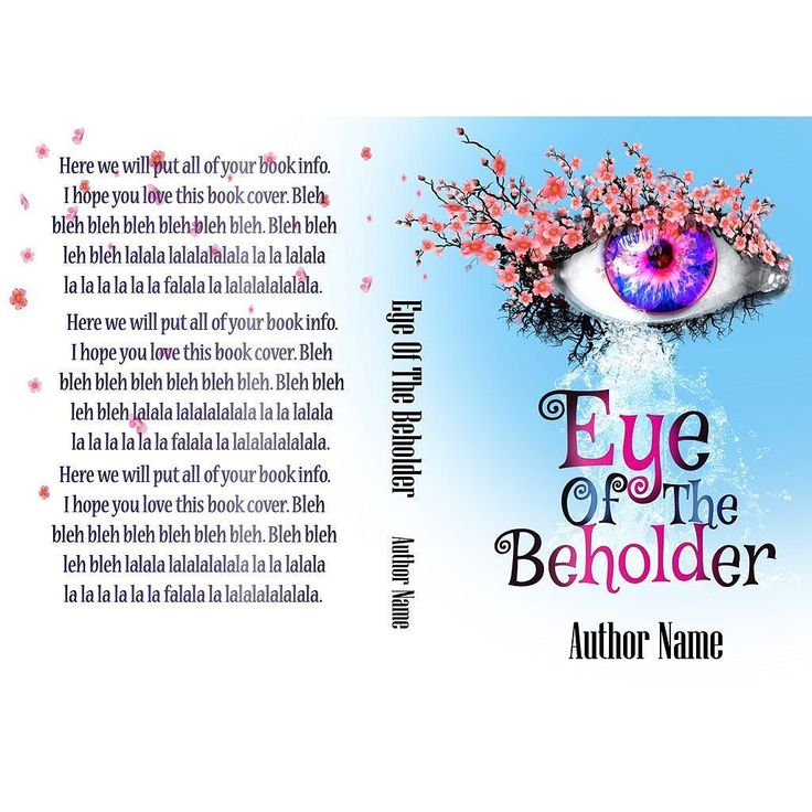 Eye of the Beholder-now available. Full wrap and Ebook. Visit my site for more selections and custom book cover designs. #eye #cherryblossoms #emotional #waterfall #everytearisawaterfall #tree #bookcovers #indiebooks #custombookcover #custombook #ebooks #ebookcoverdesign #ebookcover #graphicdesigner #ilovebooks  #bookcoversforsale #bookstagram #bookcoverforsale