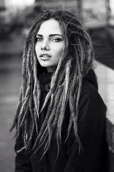 People. Dreads. Hair. Style. Cool. Indie. Woman. Confidence. Eyes. Long Hair.