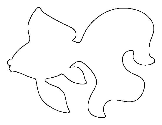 Goldfish pattern. Use the printable outline for crafts