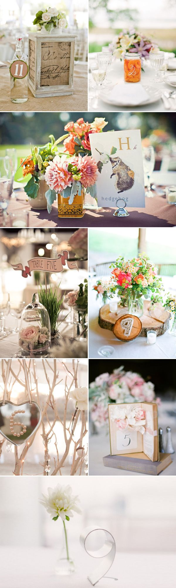 Creative Table Numbers - http://www.praisewedding.com/archives/2228