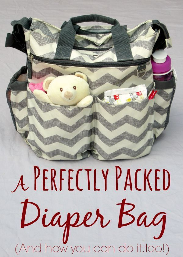 A Perfectly Packed Diaper Bag (plus tips for organizing your own diaper bag and a free printable checklist) Keep all that baby stuff organized.