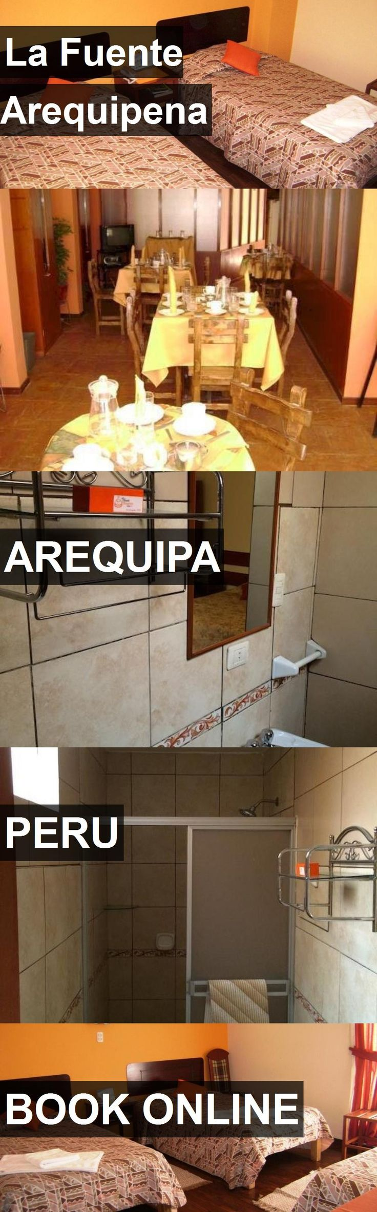 Hotel La Fuente Arequipena in Arequipa, Peru. For more information, photos, reviews and best prices please follow the link. #Peru #Arequipa #LaFuenteArequipena #hotel #travel #vacation