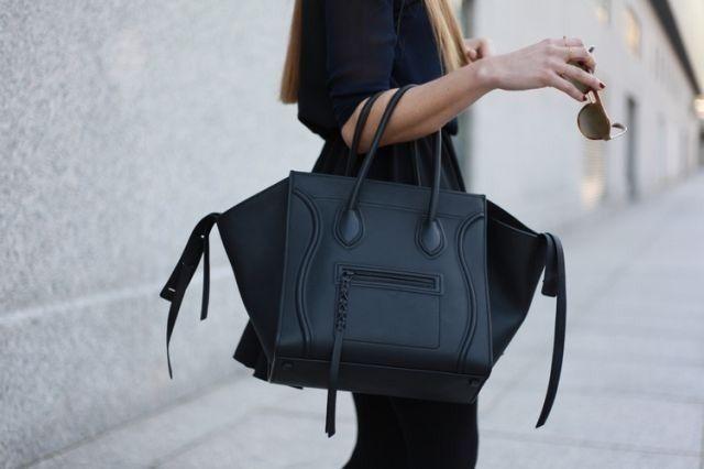 OMG!! DREAM BAG!!!!  matte black #bag :: Phantom by #Celine