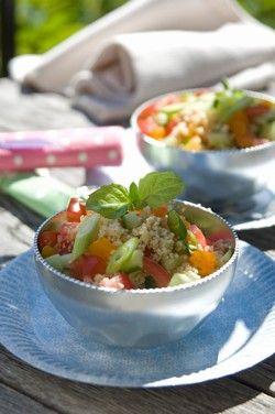couscous salat med abrikoser og mynte