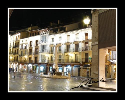 A night in Teruel, Torico square.