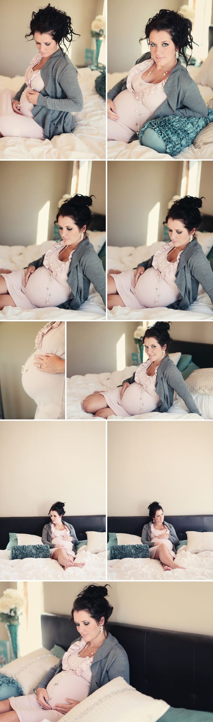 Pink bedroom maternity session, Maternity pregnancy session