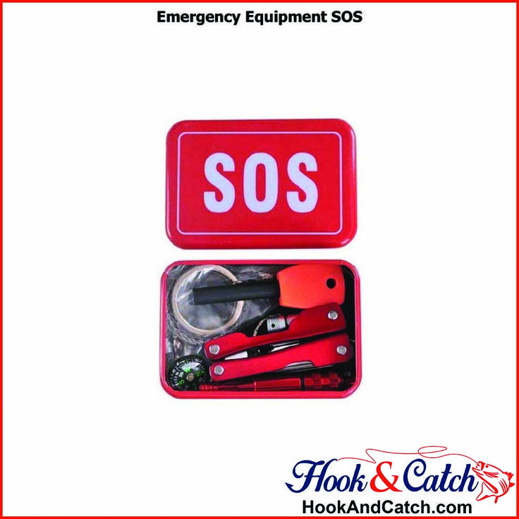 Never be outdoors without a multi function emergency kit!  https://hookandcatch.com/emergency-equipment-sos/    #Multifunctionaltoolcard #HookandCatch