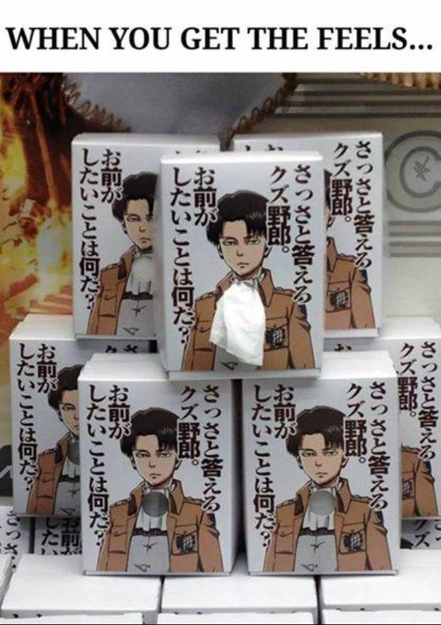 Wow they put attack on Titan stuff everywhere in Japan, someone get me levi tissues !!
