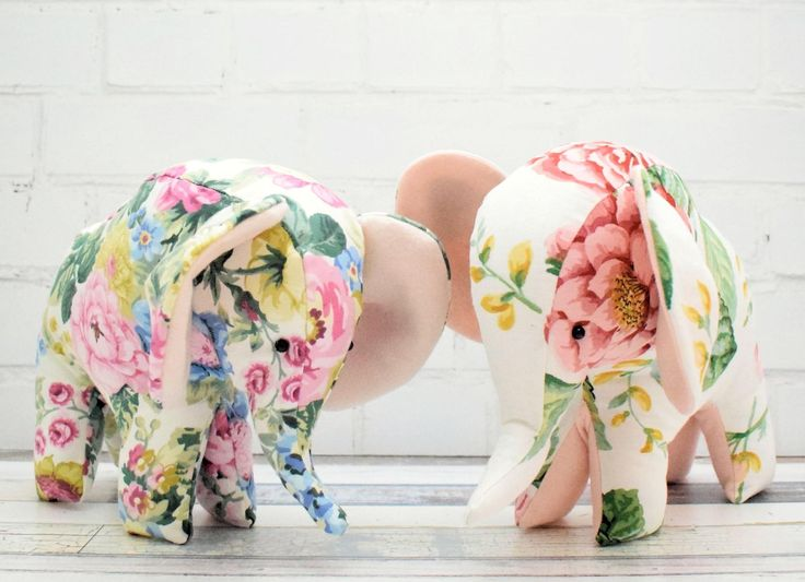 Flora is a really easy make, a great elephant softie project for a beginner. The success of your elephant depends upon choosing the right fabric...