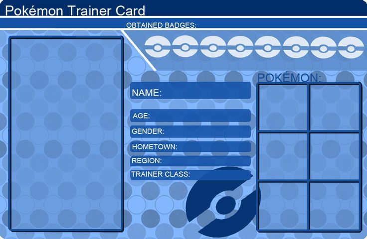 Pokemon Trainer Card Template Blue by khfanT on DeviantArt - COSPLAY IS BAEEE!!! Tap the pin now to grab yourself some BAE Cosplay leggings and shirts! From super hero fitness leggings, super hero fitness shirts, and so much more that wil make you say YASSS!!!