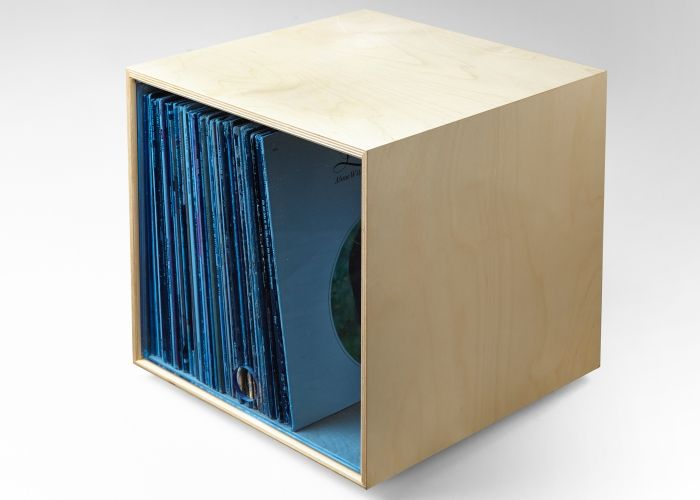 Simple Wood Goods | Clear Blue Storage Cube