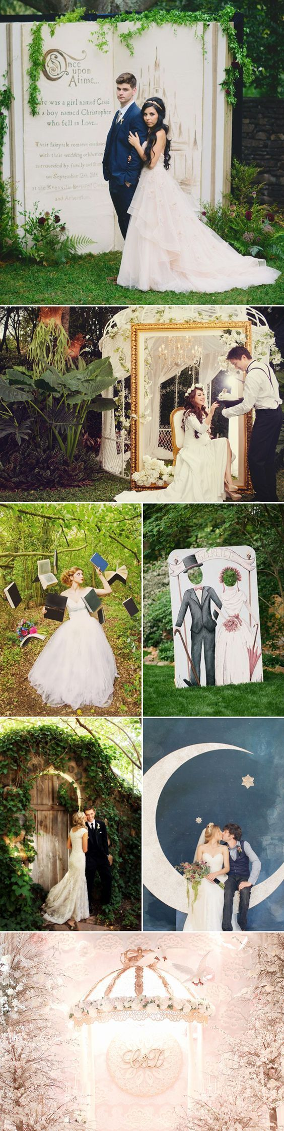 Creative Wedding Photo Backdrops. #wedding #cocomelody