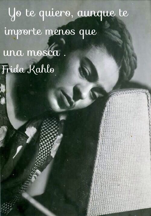 Frida kahlo I love you though you care less than a fly