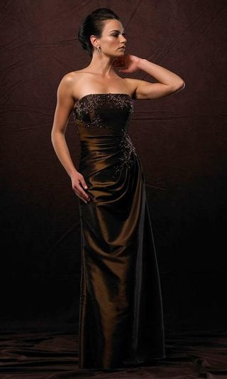 chocolate brown evening gowns, long brown formal dresses, prom, quince ...
