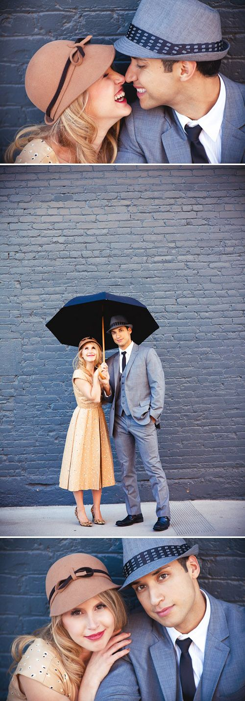 I'd die if a couple wanted to do this....DIE! Singin' In The Rain Inspired Engagement Photos