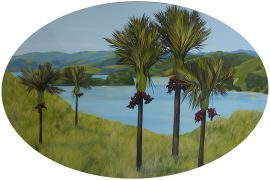Late afternoon, Coromandel by Kirsty Nixon. Original art work available from The Little Art Gallery, Tairua, Coromandel, NZ