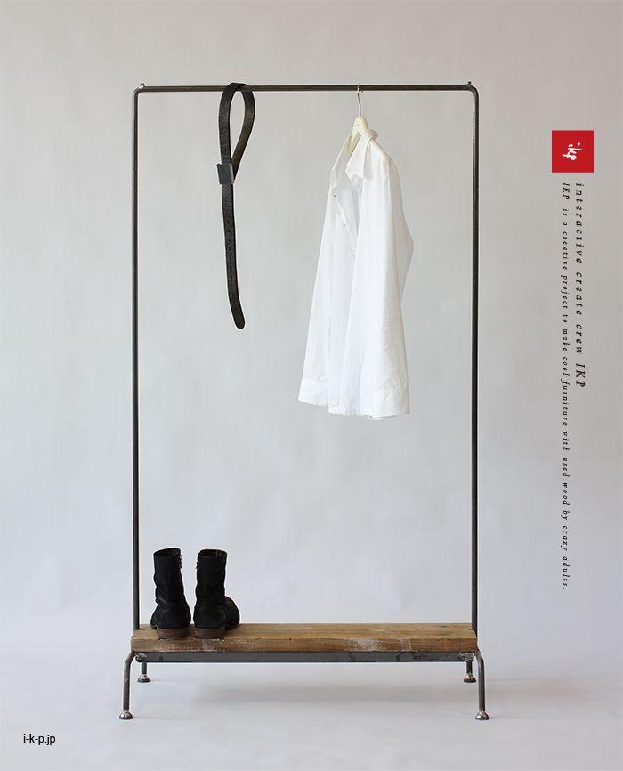 37,800円(税2,800円) ikpコートハンガー/足場板/什器/古材家具イカピー