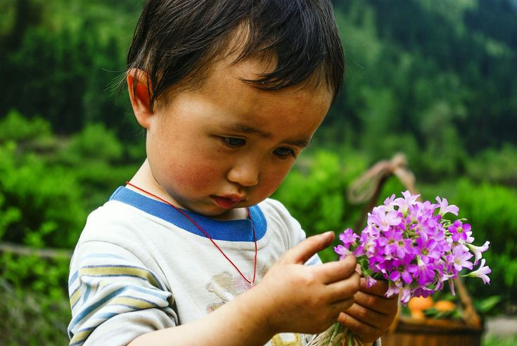 "Gerard de Nerval said, ""Every flower is a soul blossoming out to nature."" So does every child."